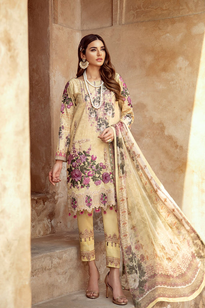 Ramsha Luxury Lawn Collection 2020 – C-206