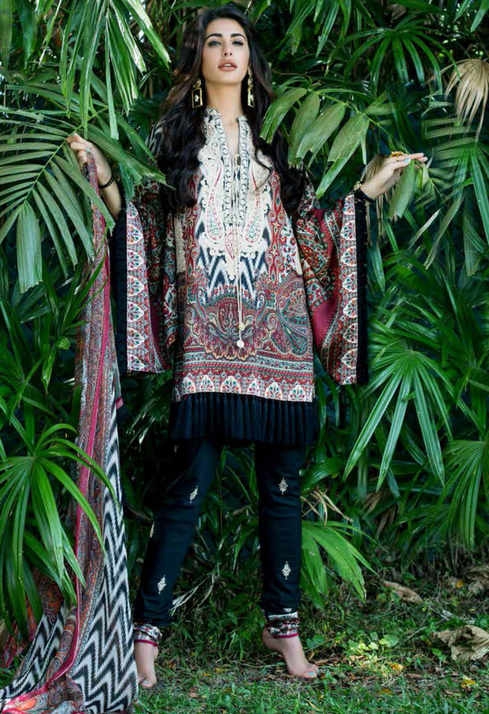 Shehla Chatoor Luxury Lawn Collection SS '16 – 5 - YourLibaas  - 1