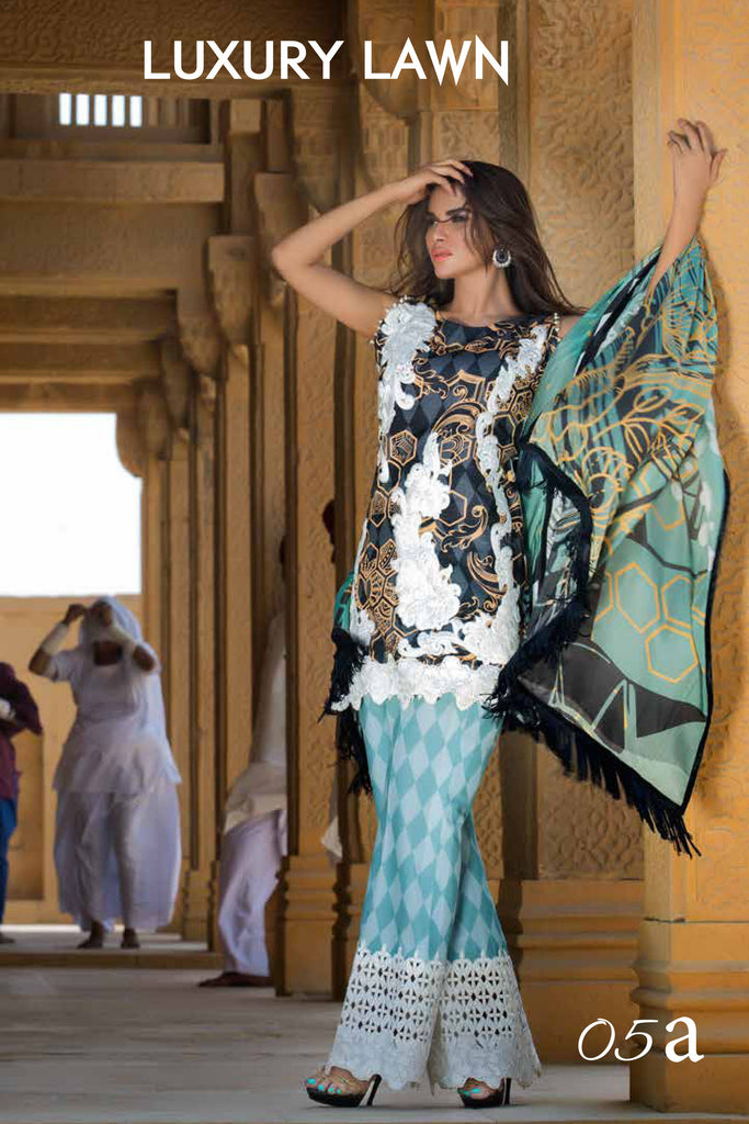 Ayesha Ibrahim Festive Luxury Lawn Collection – 5A
