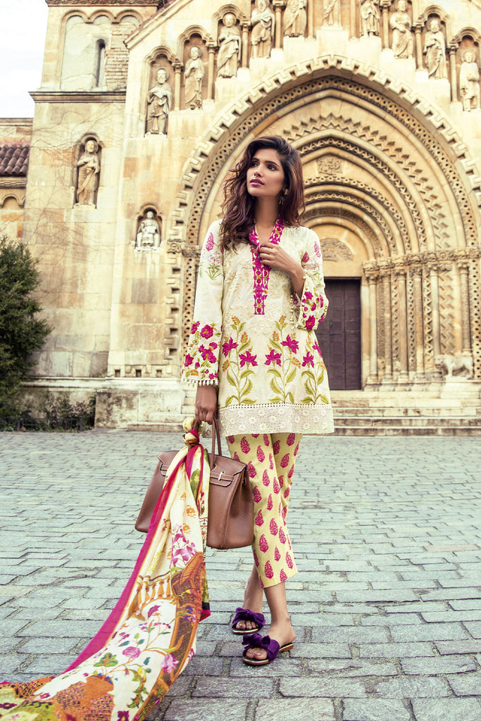 Mina Hasan Embroidered Lawn 2017 – 5A