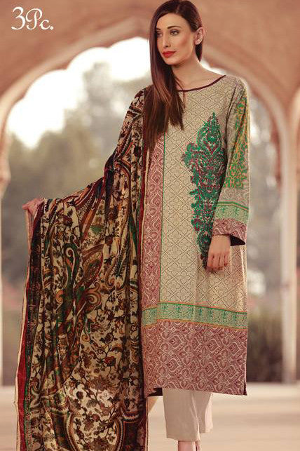 Sana & Samia Embroidered Linen Plachi Collection by Lala – Ivory - 5A - YourLibaas  - 1