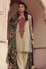 Sana & Samia Embroidered Linen Plachi Collection by Lala – Light Khaki - 5B - YourLibaas  - 1