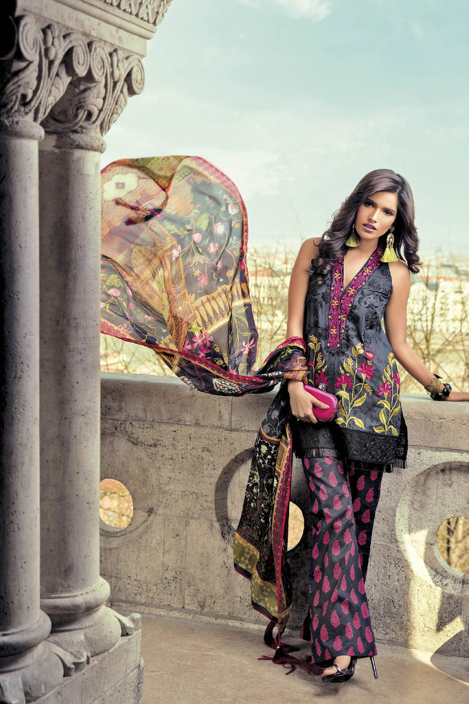 Mina Hasan Embroidered Lawn 2017 – 5B