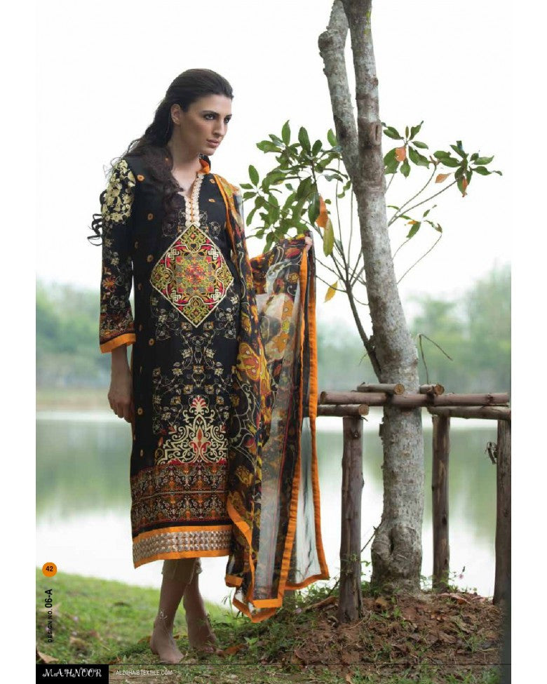 6A - Mahnoor Embroidered Collection 2015 - YourLibaas  - 1