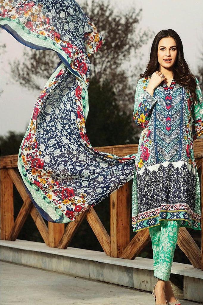 RajBari Spring/Summer Embroidered Lawn – 06A - YourLibaas  - 1
