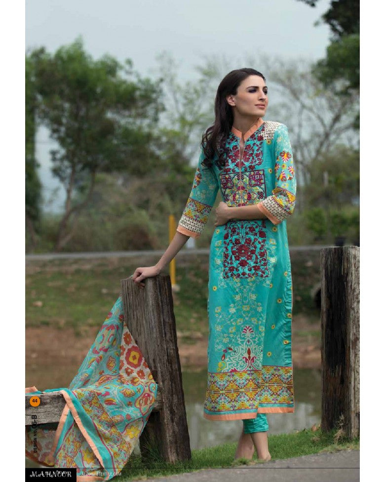6B - Mahnoor Embroidered Collection 2015 - YourLibaas  - 1