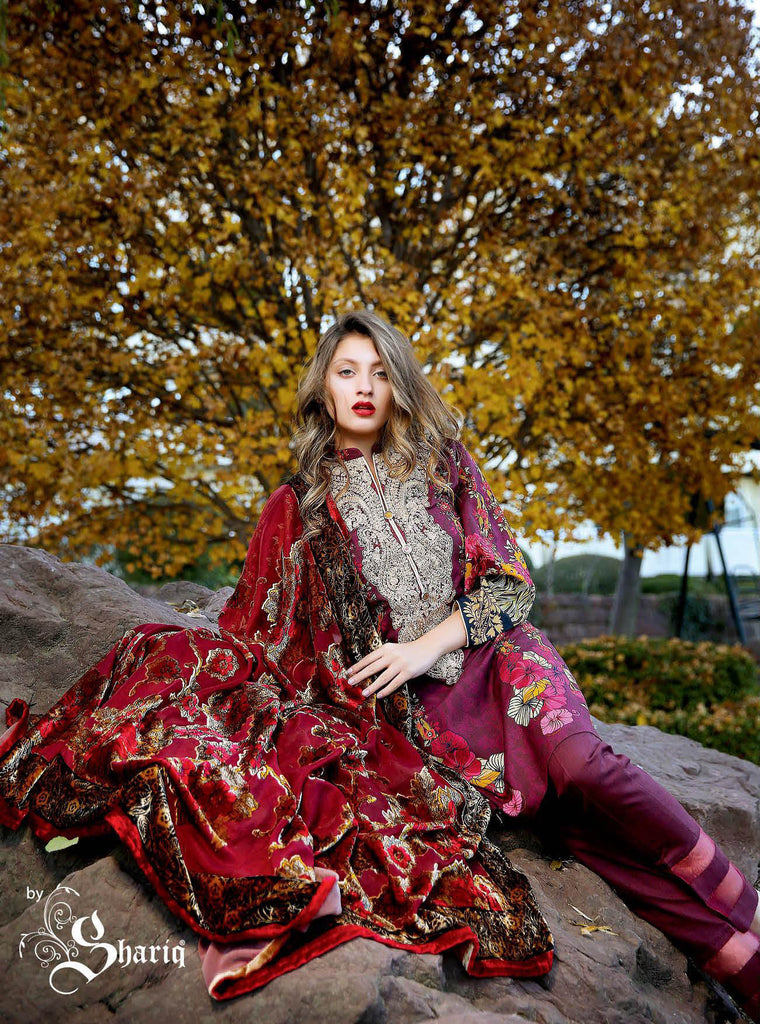 Deeba Velvet Silk Collection – 6B - YourLibaas  - 1