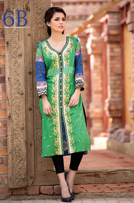 Subhata Embroidered Lawn Tunic Collection - 6B - YourLibaas  - 1