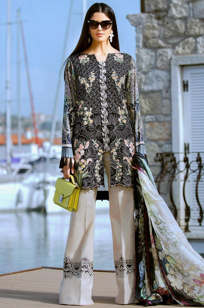 Shiza Hassan Luxury Lawn Collection '18 – Delphinium - 2A