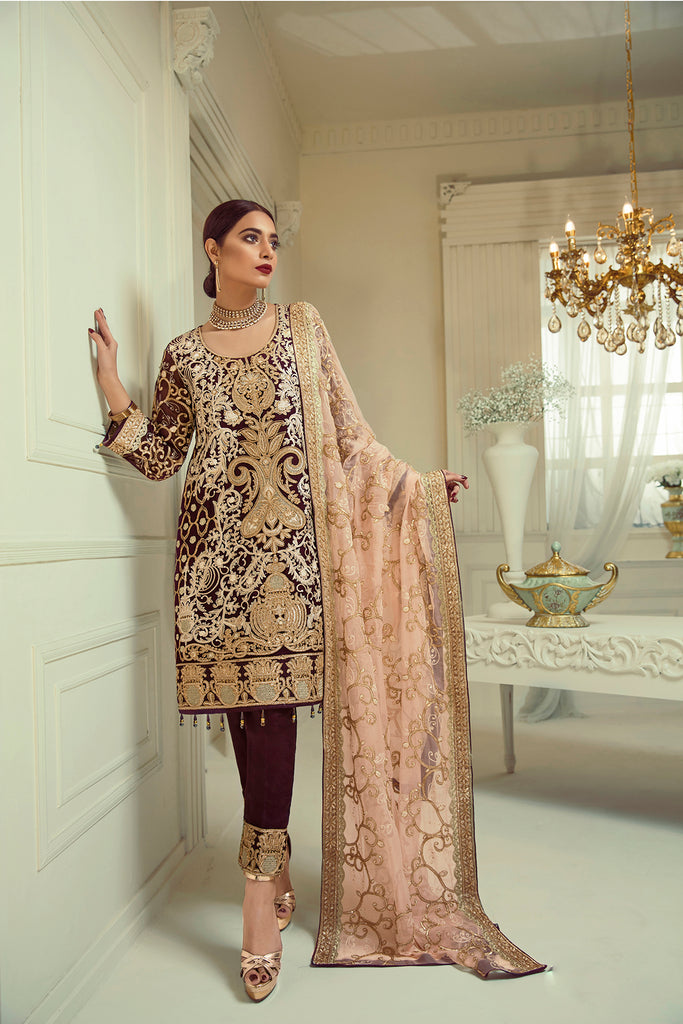 Elaf Premium Chiffon Collection 2019 – EL06 Vintage Rose