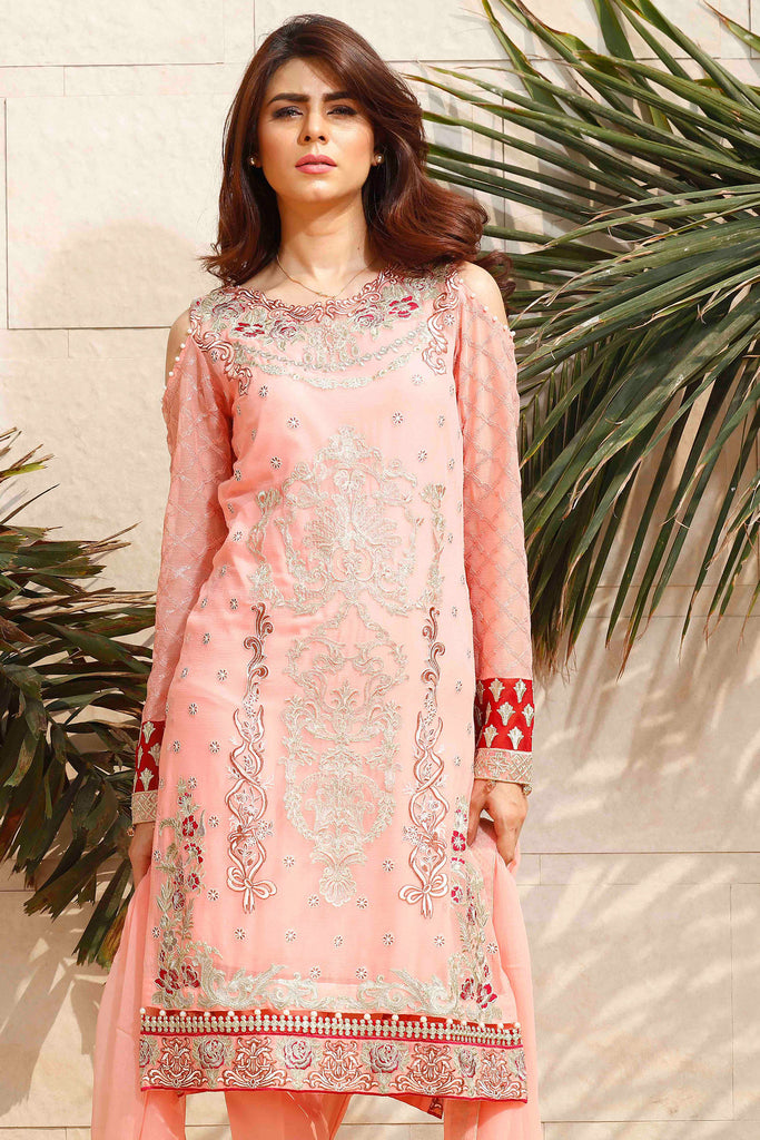 Baroque Fuchsia Chiffon Collection 2016 – Pink Lust - YourLibaas  - 1