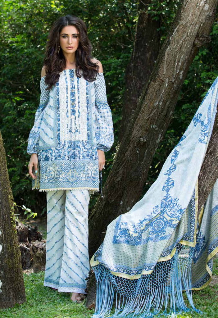 Shehla Chatoor Luxury Lawn Collection SS '16 – 6A - YourLibaas  - 1