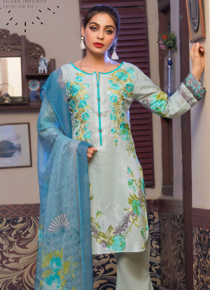Sahil Designer Embroidered Lawn Collection 2018 Vol 2 – SH2-6A