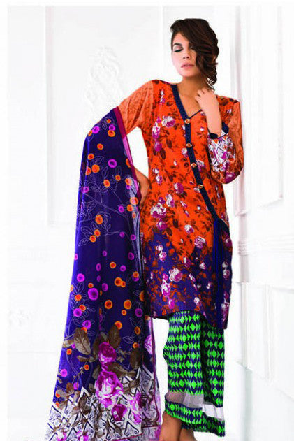 Sunshine Bloom Cotton Silk Collection '16 – 6A - YourLibaas  - 1