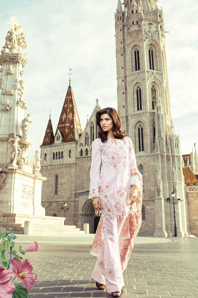 Mina Hasan Embroidered Lawn 2017 – 6A