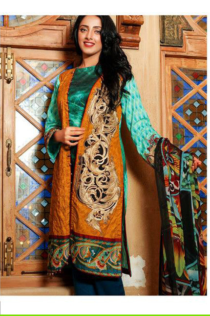 Ayesha Zara Eid Collection By Al Zohaib – 6B - YourLibaas  - 1