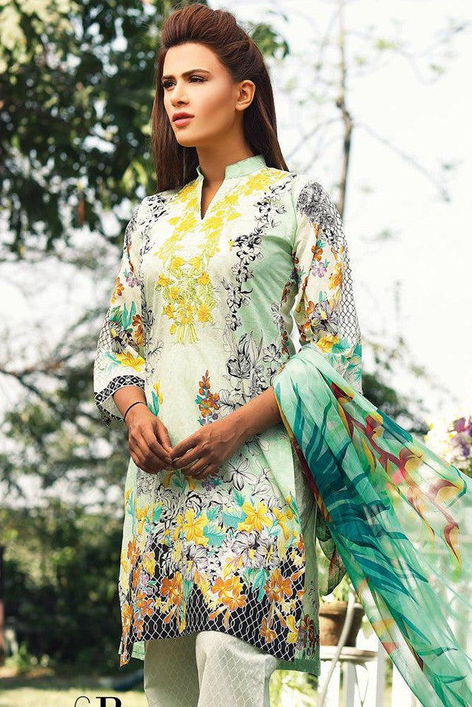 RajBari Embroidered Lawn Collection 2017 – 6B