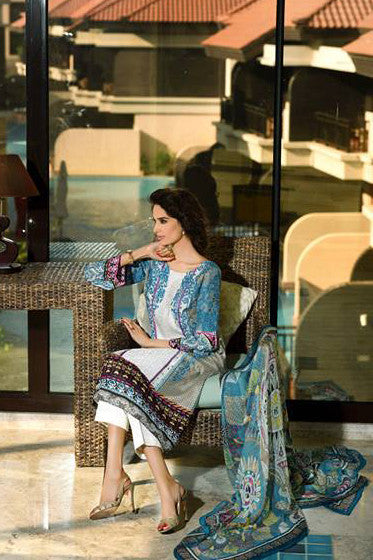 HSY Lawn by Ittehad Textiles Spring/Summer '15 – 6B - YourLibaas  - 1