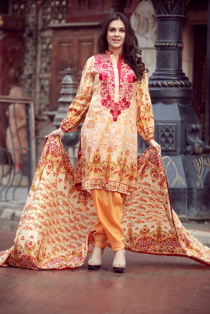 Libas Designer Embroidered Collection – 7A - YourLibaas