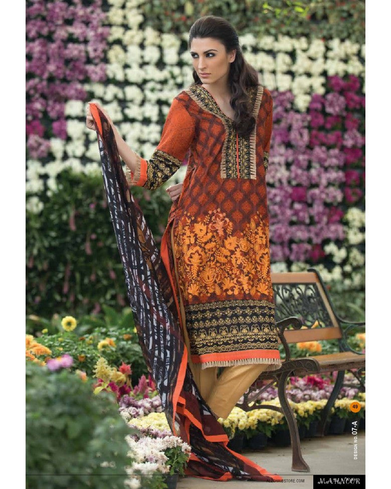 7A - Mahnoor Embroidered Collection 2015 - YourLibaas  - 1