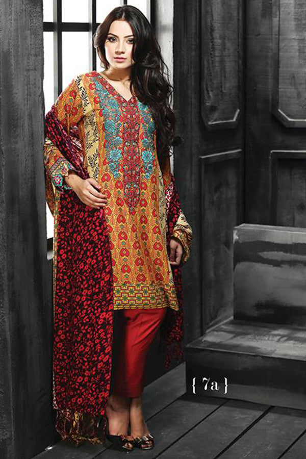 RajBari Silk Karandi Winter Collection 2015 - 7A - YourLibaas  - 1