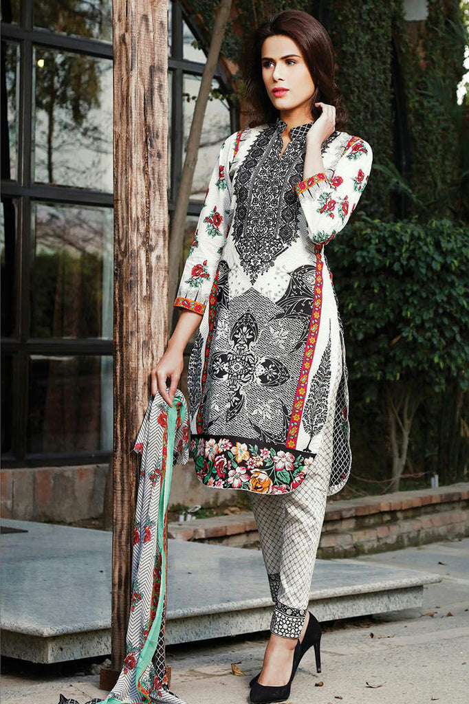 RajBari Spring/Summer Embroidered Lawn – 07A - YourLibaas  - 1