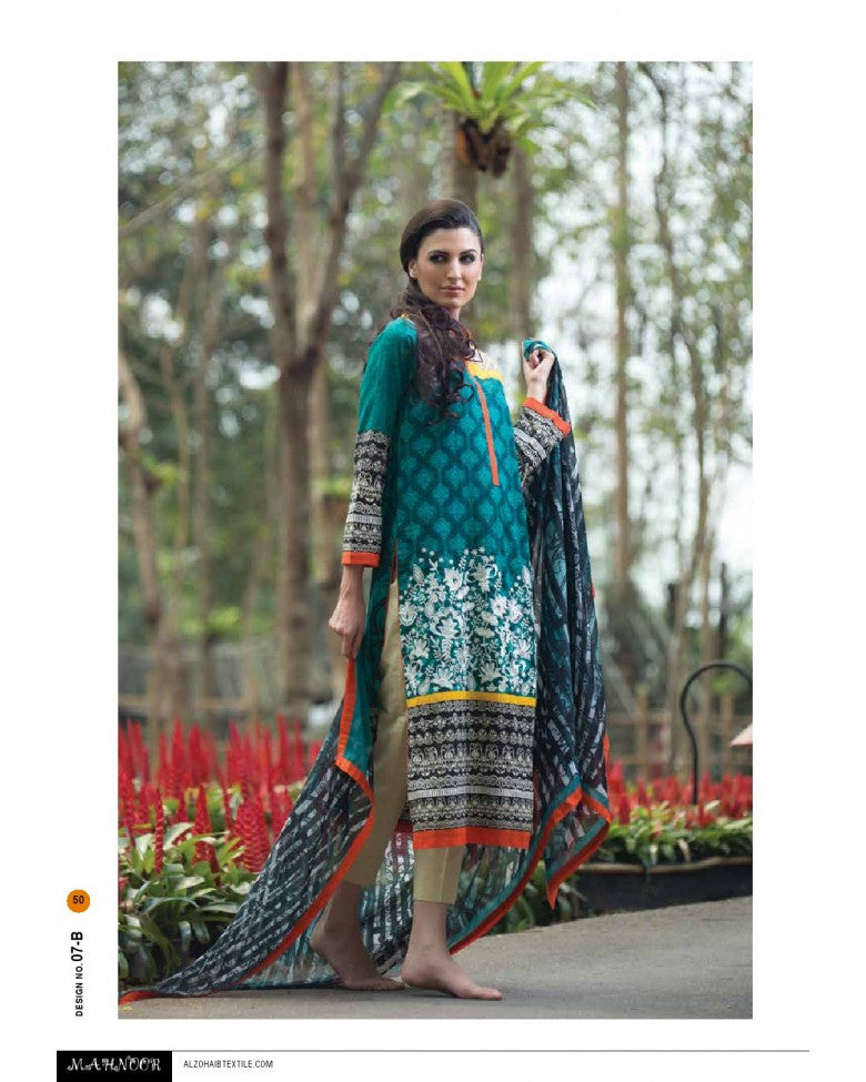 7B - Mahnoor Embroidered Collection 2015 - YourLibaas  - 1
