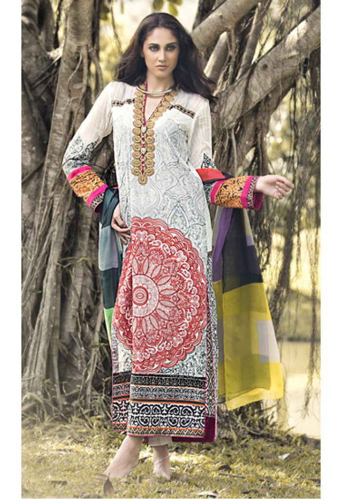 7B - Firdous Carnival Embroidered Collection 2015 - YourLibaas