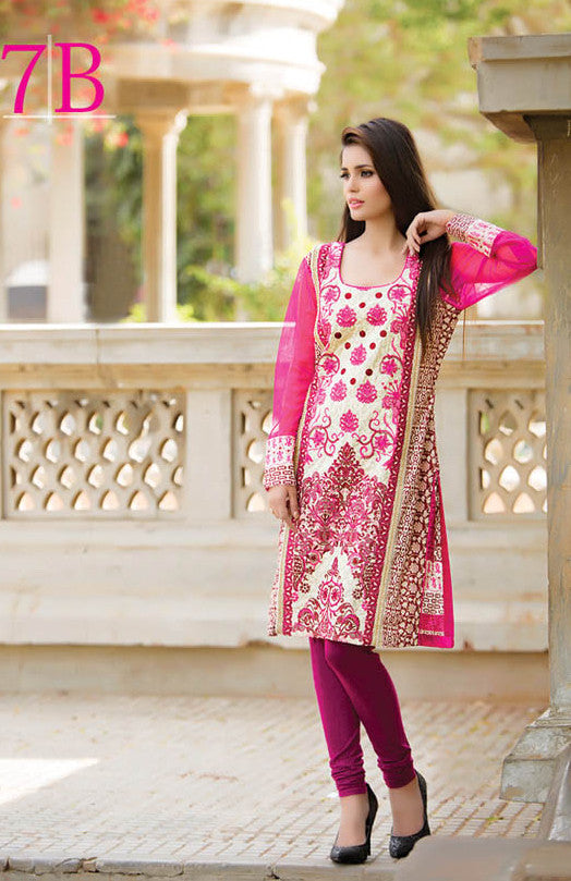 Subhata Embroidered Lawn Tunic Collection - 7B - YourLibaas  - 1