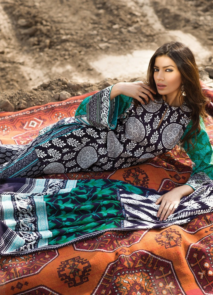 Sana Safinaz Winter Shawl Collection 2015 - 07B - YourLibaas