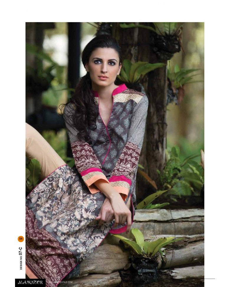 7C - Mahnoor Embroidered Collection 2015 - YourLibaas  - 1