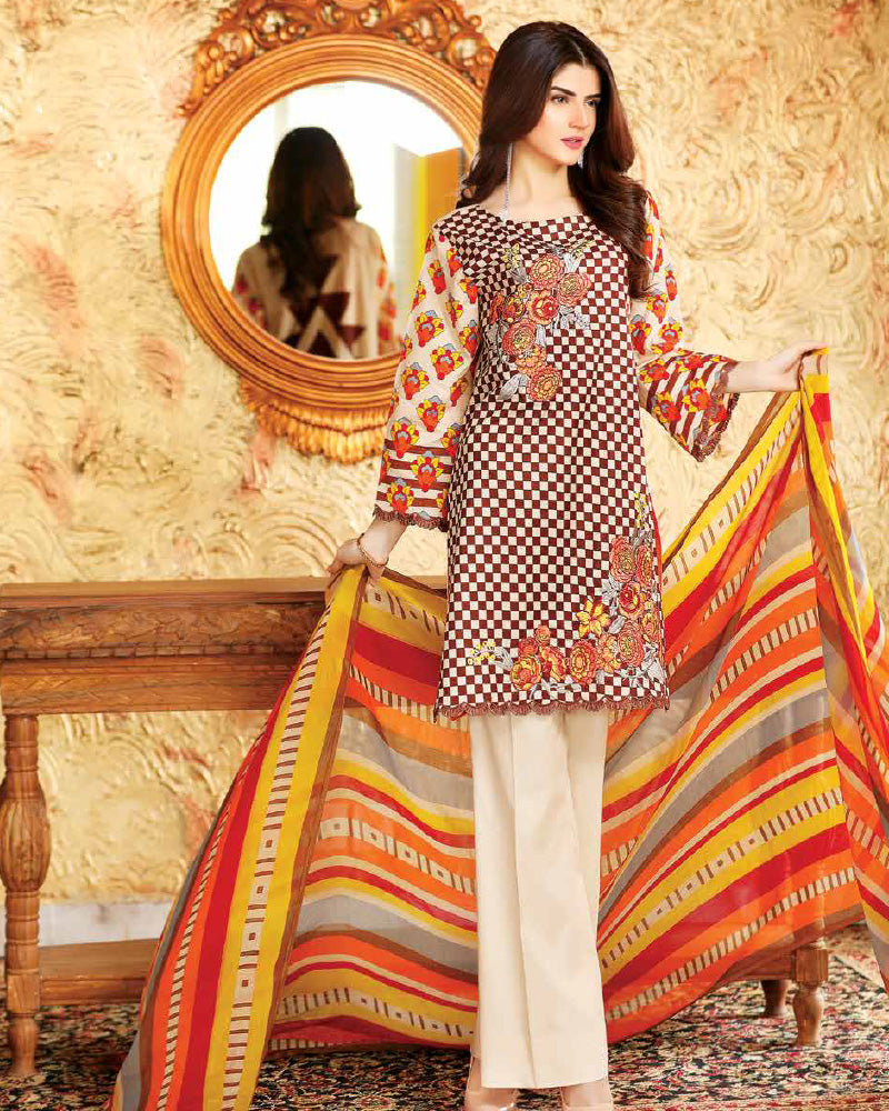 Riaz Arts Spring/Summer Orange Series 2018 Vol-1 – 4C