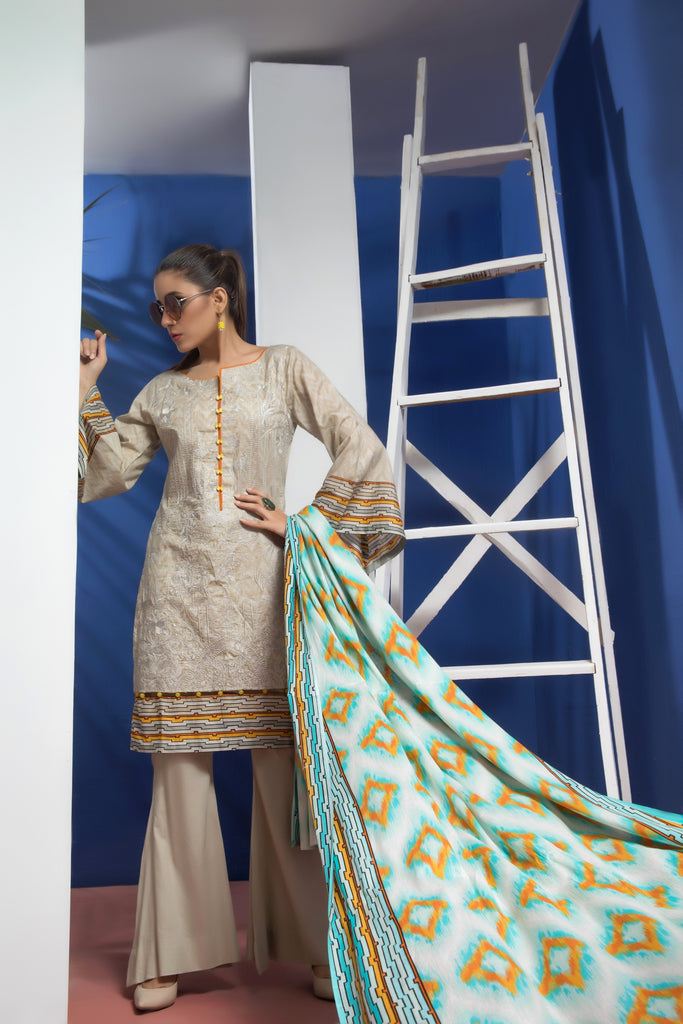 Sahil Designer Embroidered Lawn Collection Vol 6 – SH6-7A