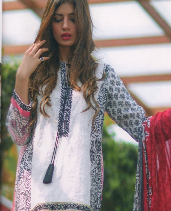 Mina Hasan Designer Lawn Collection 2016 –  7B - YourLibaas  - 1