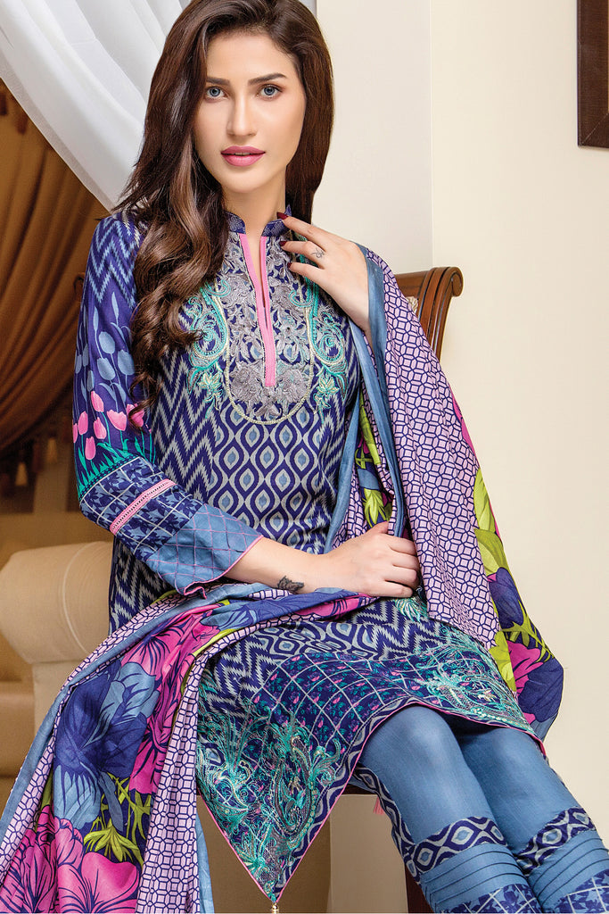 Sahil Designer Embroidered Lawn Collection Vol-9 – 7B