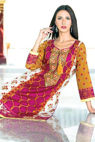 Zanisha Embroidered Kurti 2016 – 8A - YourLibaas  - 1