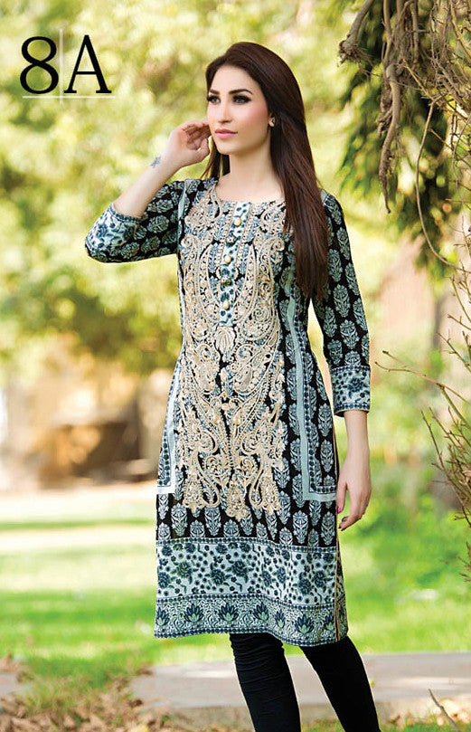 Subhata Embroidered Lawn Tunic Collection - 8A - YourLibaas  - 1