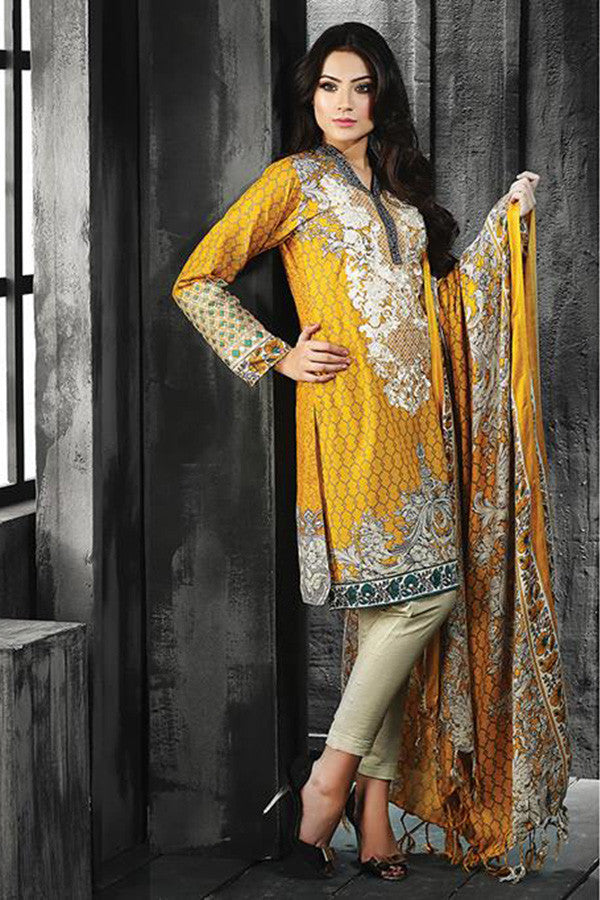 RajBari Silk Karandi Winter Collection 2015 - 8B - YourLibaas  - 1