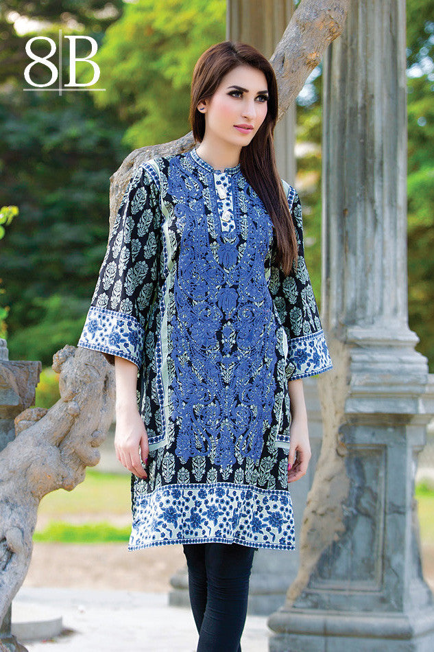 Subhata Embroidered Lawn Tunic Collection - 8B - YourLibaas  - 1