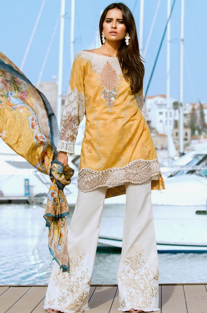 Shiza Hassan Luxury Lawn Collection '18 – Marigold - 6A