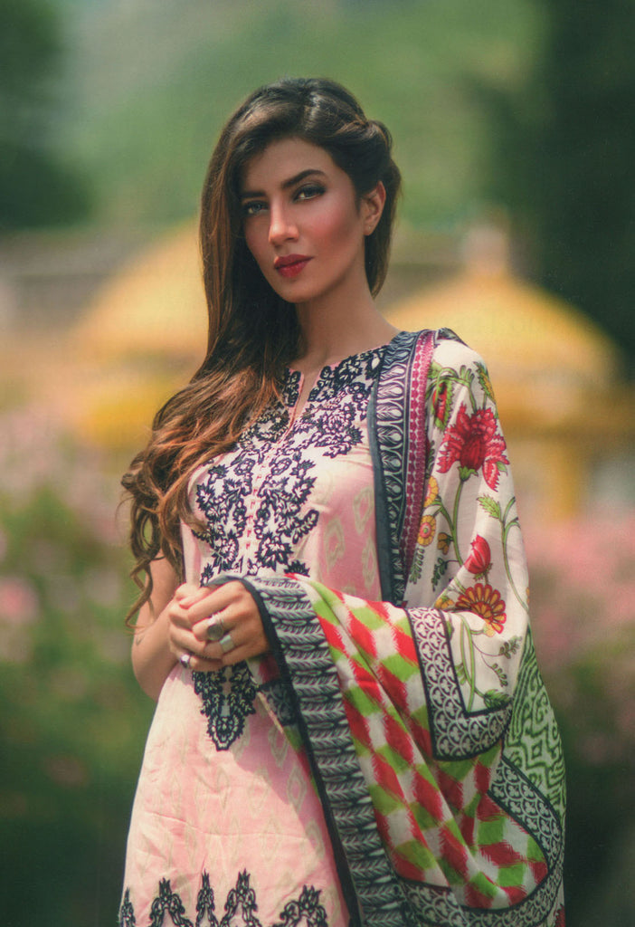 Mina Hasan Designer Lawn Collection 2016 –  8A - YourLibaas  - 1