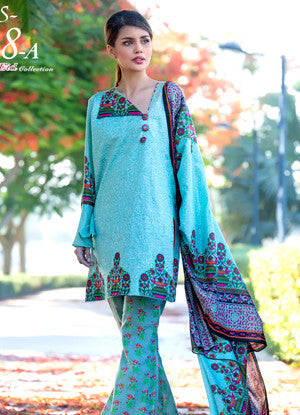 Sahil Embroidered Lawn Eid Collection Vol-10 – 08A
