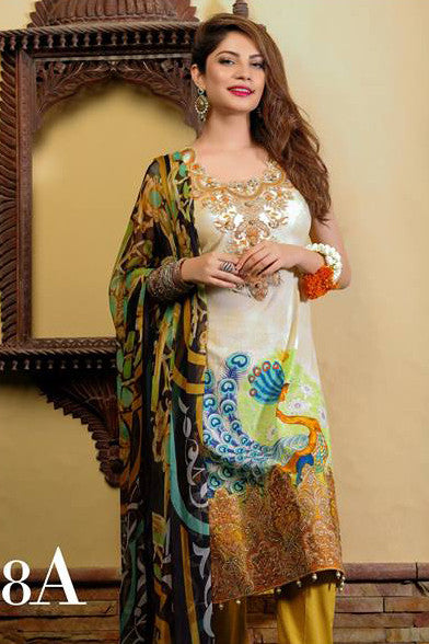 Ayesha Zara Eid Collection By Al Zohaib – 8A - YourLibaas  - 1