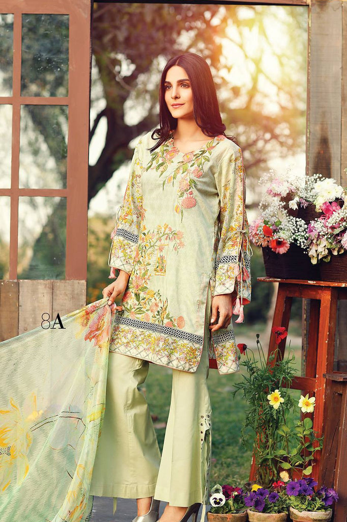 RajBari Embroidered Lawn Collection 2017 – 8A