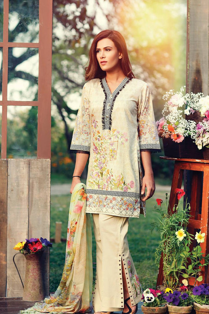 RajBari Embroidered Lawn Collection 2017 – 8B