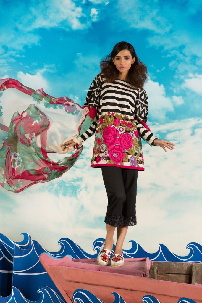 Sana Safinaz Muzlin Lawn Collection 2017 – 9B
