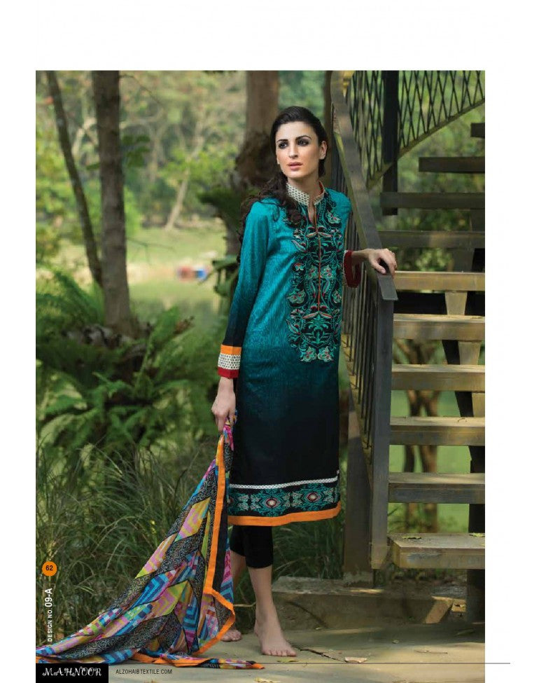 9A - Mahnoor Embroidered Collection 2015 - YourLibaas  - 1