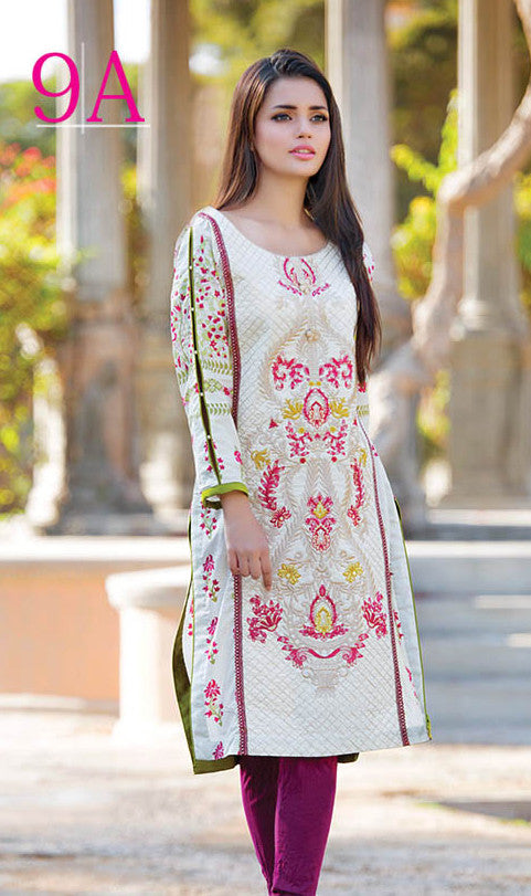Subhata Embroidered Lawn Tunic Collection - 9A - YourLibaas  - 1