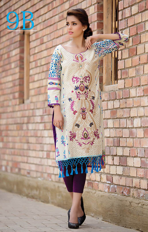 Subhata Embroidered Lawn Tunic Collection - 9B - YourLibaas  - 1