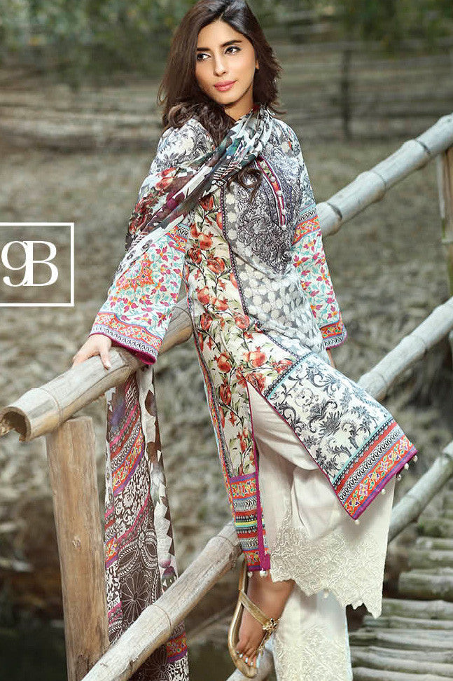 ZarQash Luxury Lawn Spring/Summer - 9B - YourLibaas  - 1